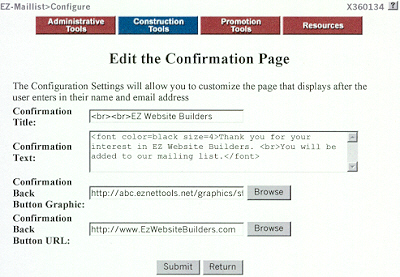 Edit Confirmation Page!